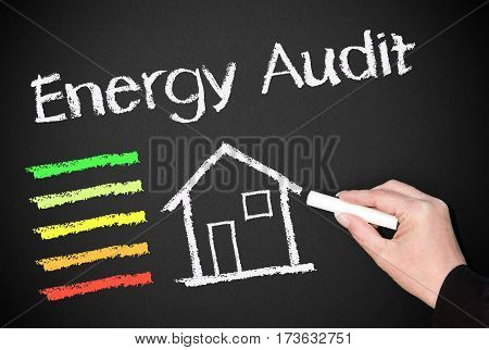 Energy Audit - house or home with energy efficiency