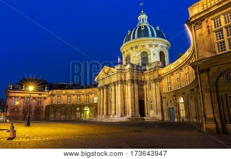 The French Academy is pre-eminent French council for matters pertaining to the French language.It was established in 1635 by cardinal Richelieu.
