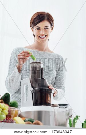 Woman Preparing A Detox Drink