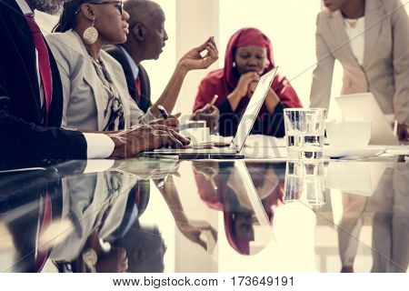 Diverse People Deal Teamwork Together Partnership