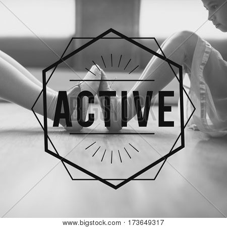 Active physical activity ballet background