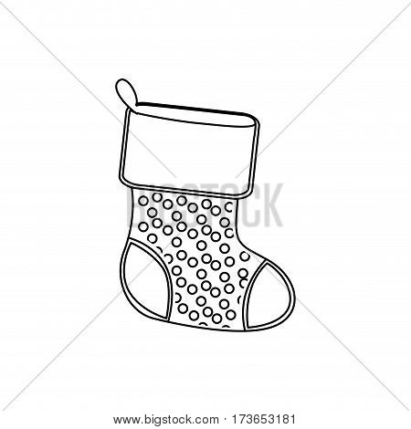 sihouette christmas boots icon, vector illustraction design image