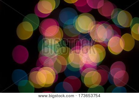 Save Download Preview Bokeh lights background. Abstract multicolored light. Blur spot light.