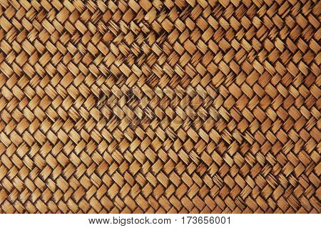 Striped woven bamboo, close up of old hand made bamboo wall, bamboo texture