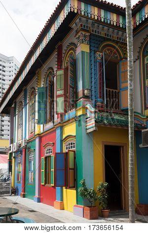 Building fragment at Kampong Glam neighborhood Singapore