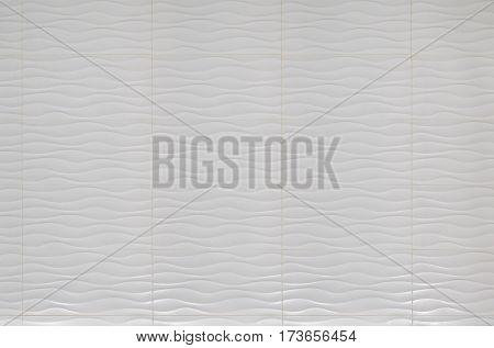 White modern wavy pattern bathroom wall tiles
