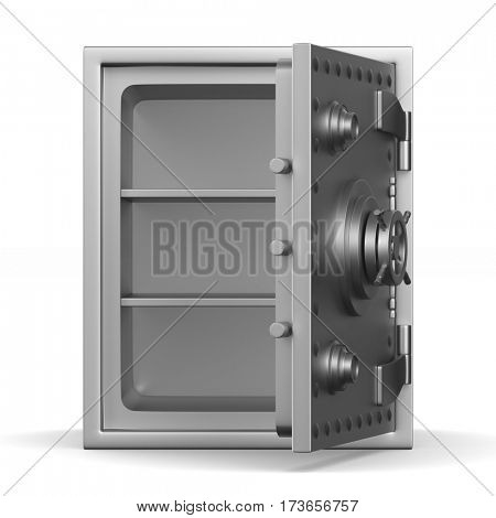 Safe on white background. Isolated 3D image