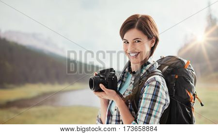 Photographer Shooting Outdoors