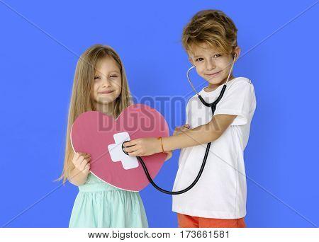 Little Children Heart Stethoscope Doctor