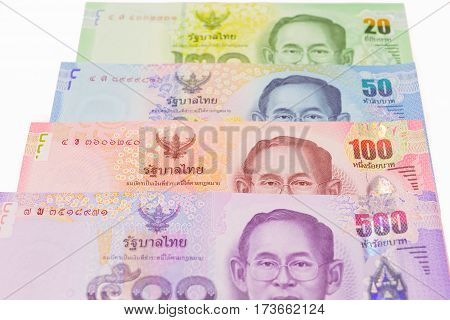 Thai Banknotes Money Background.