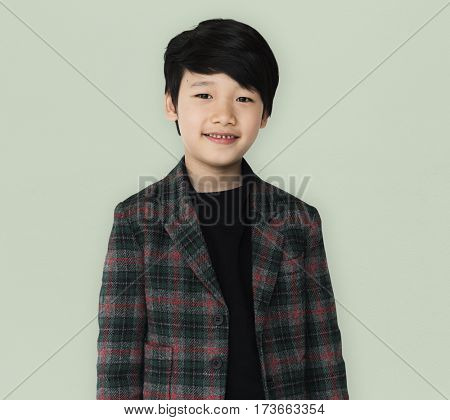 A asian ethnicity is wearing coat