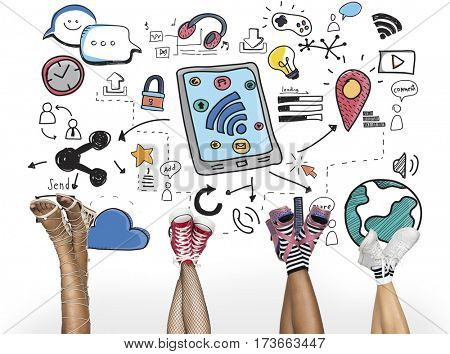 Digital Media Global Communications Connection Technology