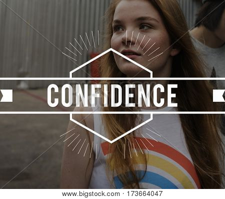 Confidence Vintage Vector Graphic Concept