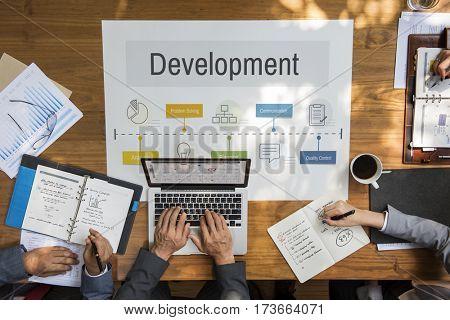 Operation Process Performance Development Icon