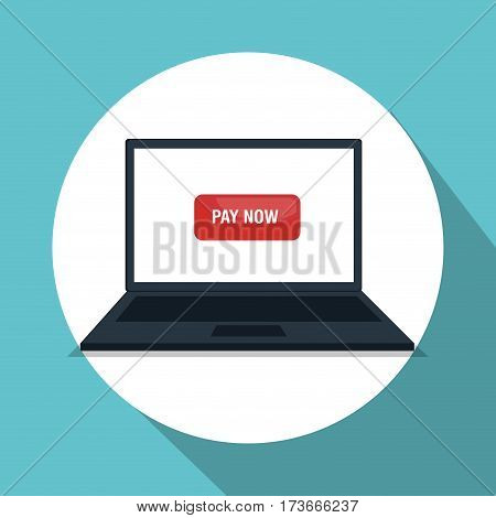 laptop computer electronic commerce vector illustration design