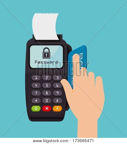 voucher machine electronic commerce vector illustration design