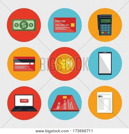 electronic commerce set icons vector illustration design