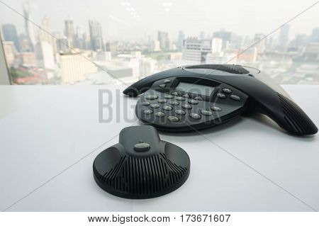isolated IP conference phone with mobile speaker