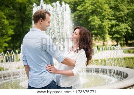 Young couple having fun outdoors
