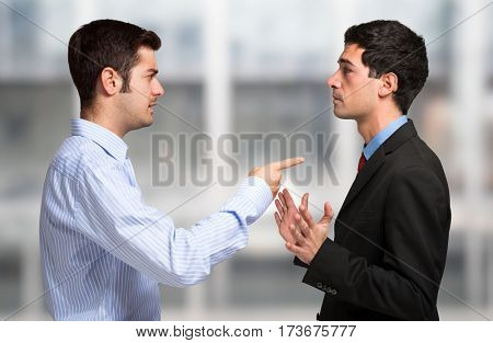 Business people having a discussion