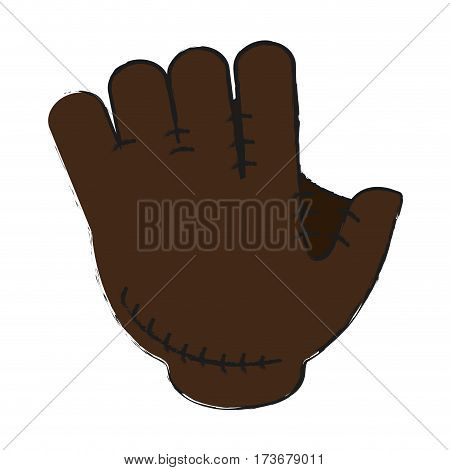 mitt or glove baseball icon image vector illustration design