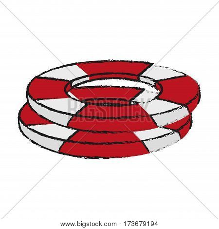 life preserver belt icon image vector illustration design