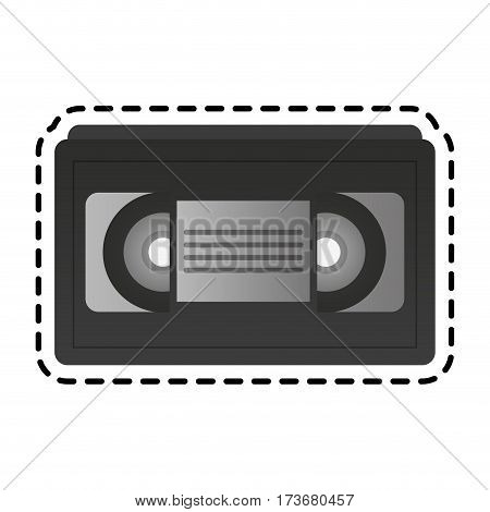 video tape icon image vector illustration design