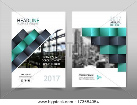 Green design on background.Brochure template layout cover design annual report,magazine ,leaflet presentation background,flyer design.and booklet in A4 with Vector Illustration.