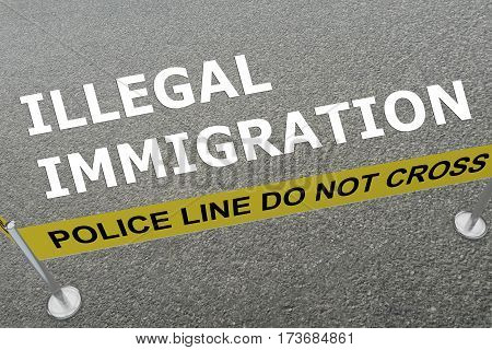 Illegal Immigration Concept