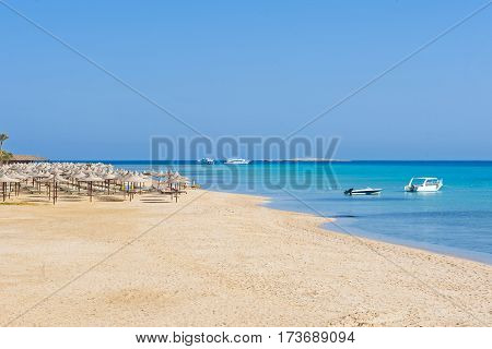 Tropical Beach And Sea At Resort