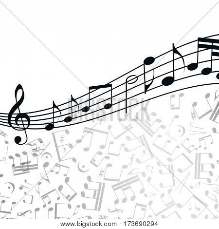 Music  background: melody, notes, key.
