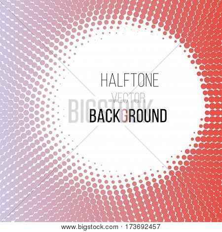color gradient dot halftone background. Stock vector illustration