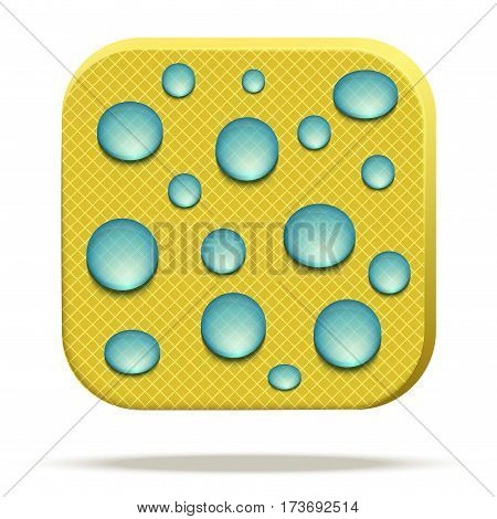 Icons of waterproof material. Reticulated fabric rip stop. Technical illustration Demonstration of Waterproof structure of material. Vector Illustration isolated on white background