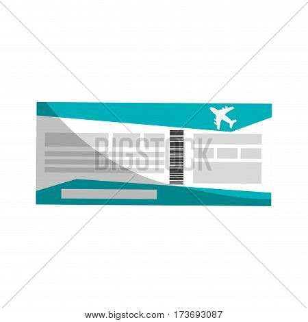 travel pass board icon over white background. colorful design. vector illustration