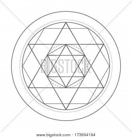 sacred geometry symbol illustration. Vector david star