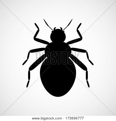 Abstract vector beetle. Black and white icon. Eps8. RGB Global colors