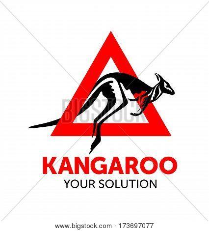 Caution Kangaroo Logo