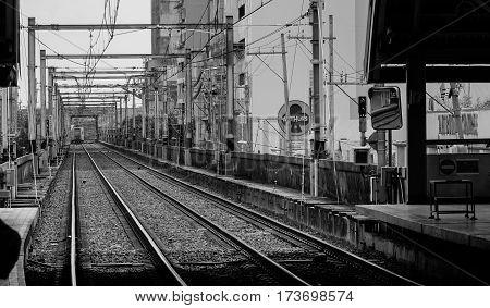 Skytrain Track In Manila, Philippines