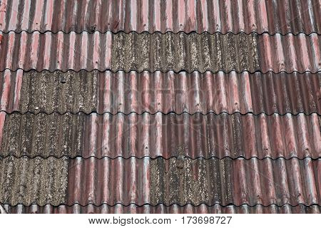 Old Roofed Houses Made Of Galvanized Iron