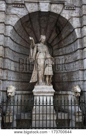 Lyon, France - December 20, 2016: Statue of Jean Gerson in December 20 in Lyon, France