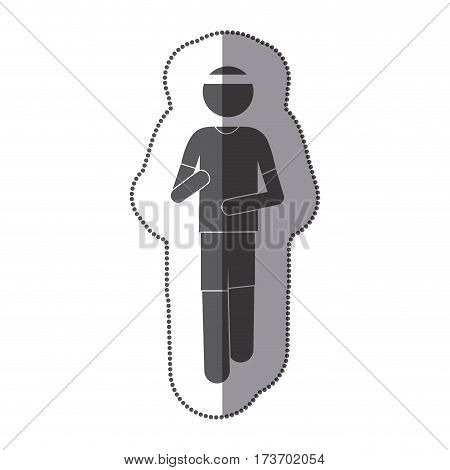 people man Jogging icon stock, vector illustration design