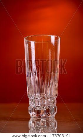 glass of orange juice on the background