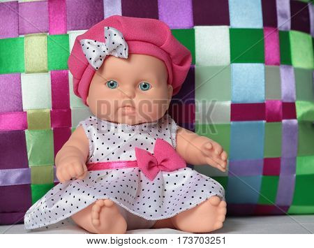 birthday baby doll dress with polka dots nice gift for a child