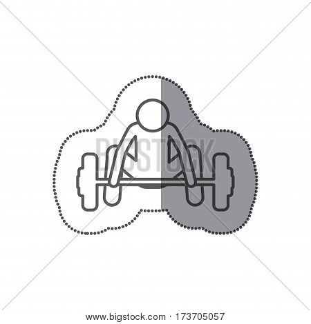 figure man trying to lift weight icon, vector illustration design