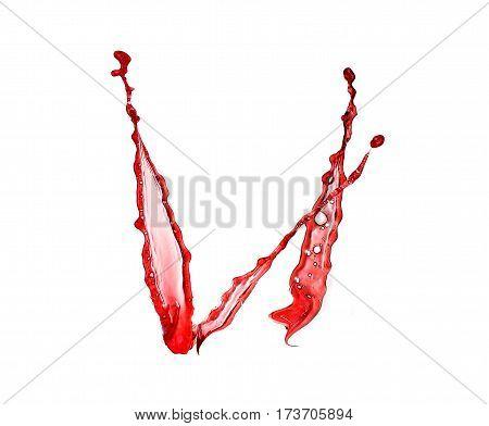 Red Wine Splashes Isolated On White Background