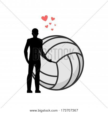 Lover Volleyball. Man And Ball. Love Sport Game. Lovers Embrace. Romantic Date