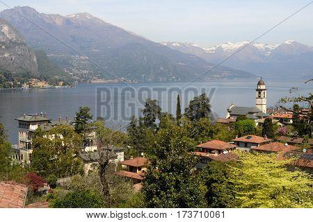 Bellagio, Italy - 13 April 2015: the village of Bellagio on lake Como, Italy