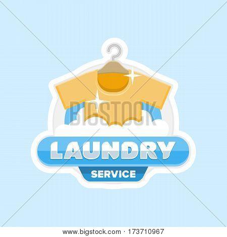 Laundry Service Logo Emblem Badge