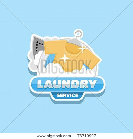 laundry service logo template design vector .