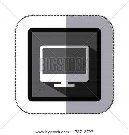contour computer icon stock, vector illustration design image